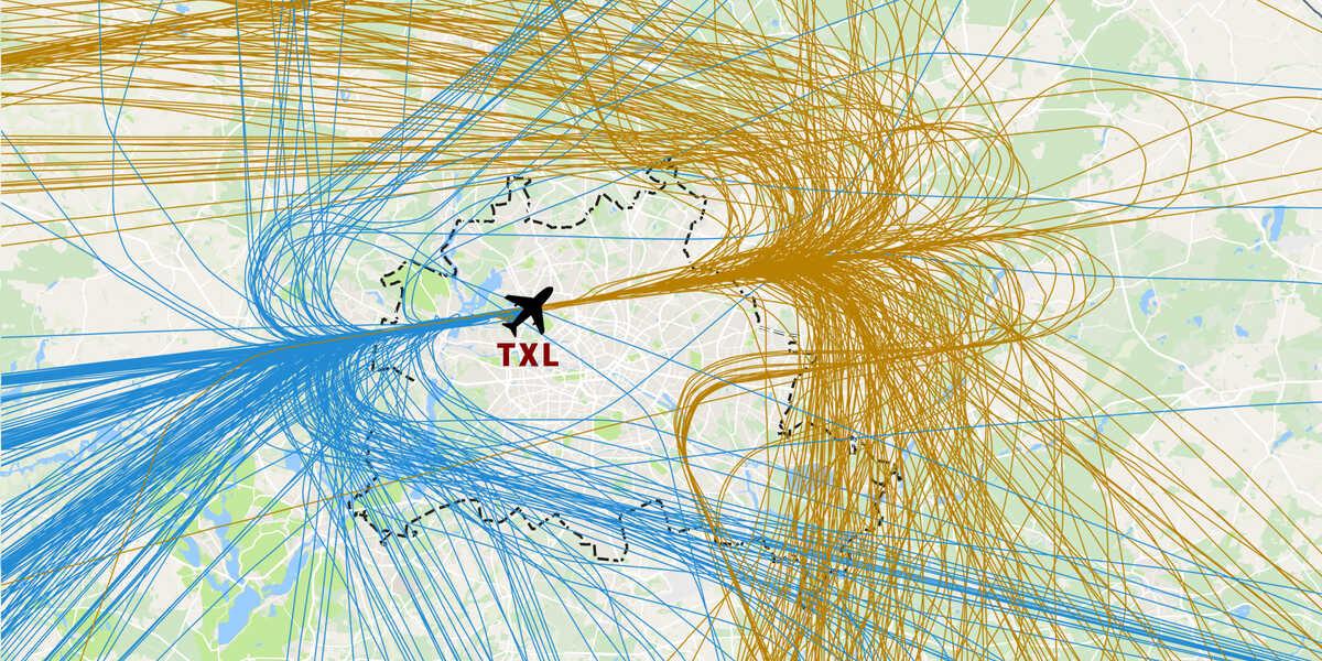 Flugrouten Karte.24 7 Tegel Uber Diese Teile Berlins Fliegen Die Maschinen